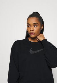 Nike Performance - DRY GET FIT CREW - Sweater - black/light smoke grey - 3