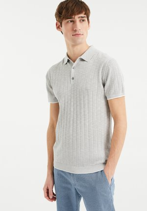 MET STREEPSTRUCTUUR - Poloshirt - light grey