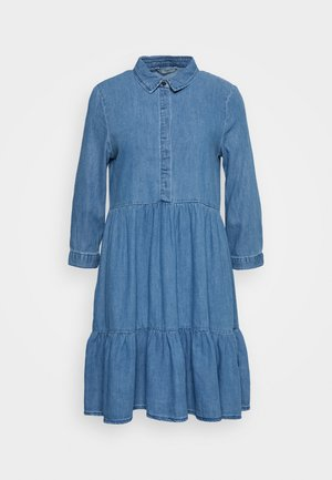 ONLENYA LIFE 3/4 SLEEVE - Denim dress - medium blue denim