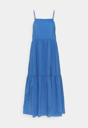 DRESS STRAPS TIRED - Robe longue - intense blue