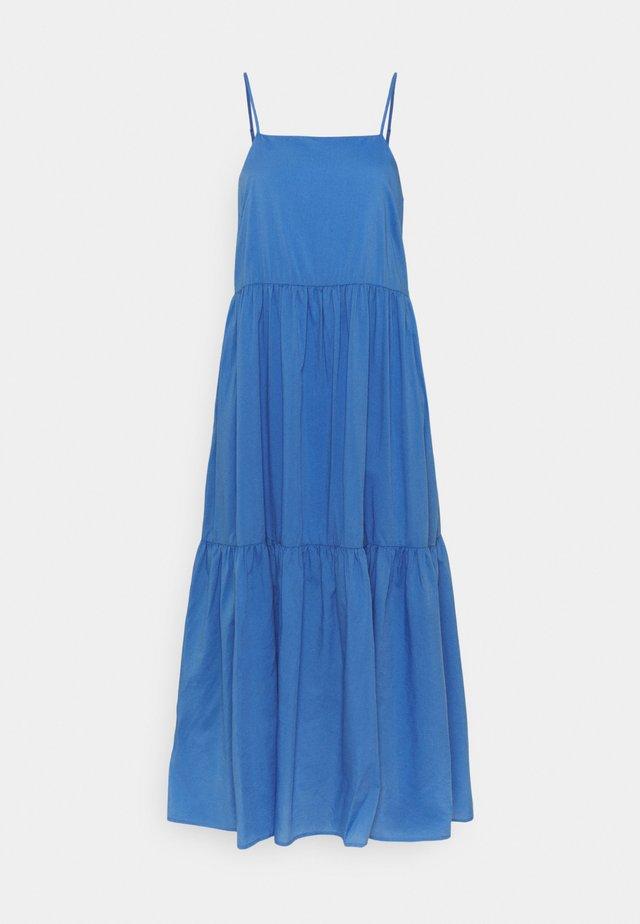 DRESS STRAPS TIRED - Vestito lungo - intense blue