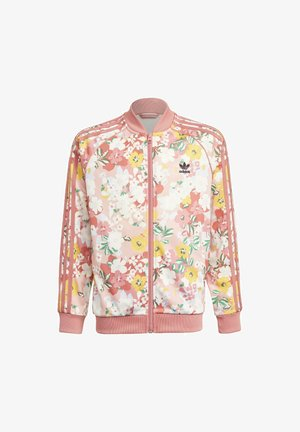 HER STUDIO LONDON FLORAL SST JACKET - veste en sweat zippée - pink