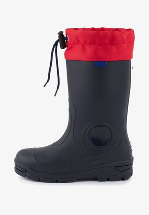 Snowboots  - marineblau/rot