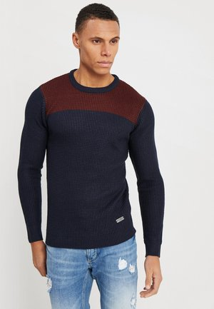 HERMES - Jumper - dark navy/dark burgundy