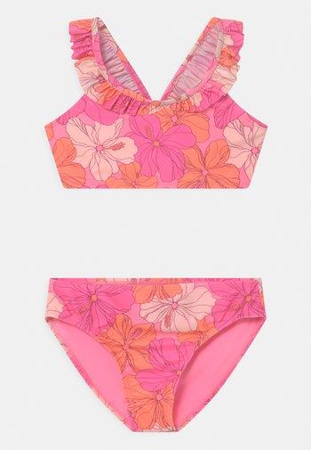 GIRL RUFFLE SET - Bikini - neon impulsive pink