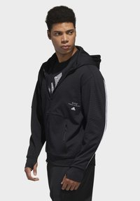 adidas Performance - MUST HAVES ENHANCED AEROREADY HOODED - Sweatjacke - black - 3