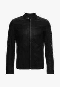 ONSSACHO - Faux leather jacket - black