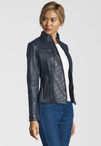 7eleven - RENATE - Leather jacket - navy - 2