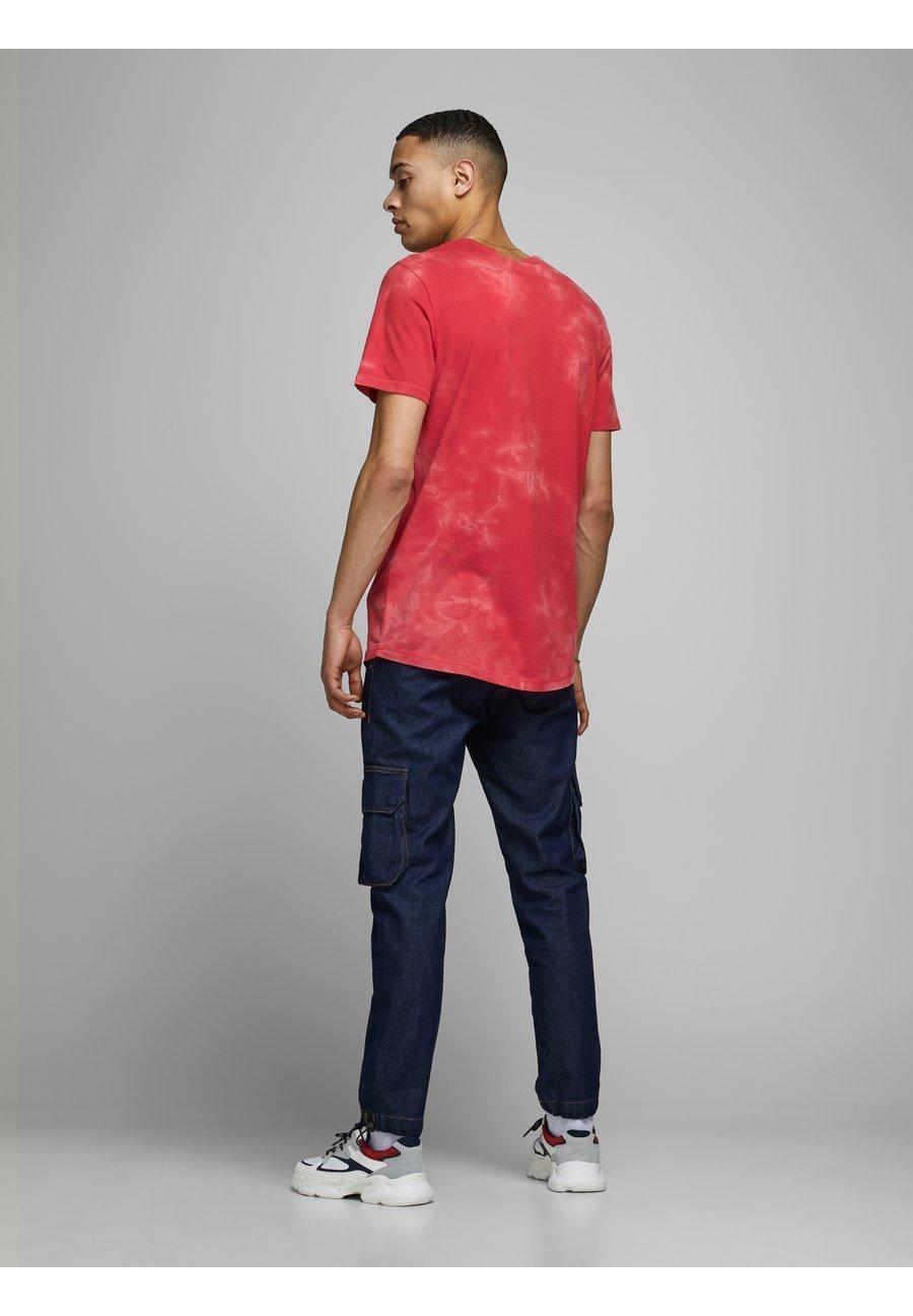 Jack & Jones JCOTIE TEE CREW NECK - Print T-shirt - bittersweet 5hDam