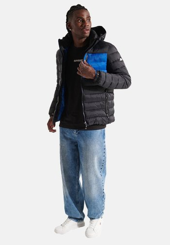 Winter jacket - black colour block
