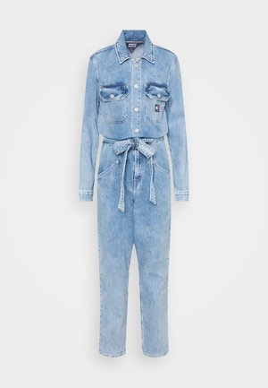MOM JUMPSUIT ULBR - Jumpsuit - light-blue denim