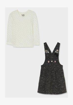 Jumper dress - dark gray / white