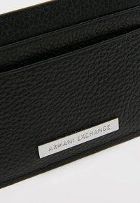 Armani Exchange - MINUTERIA PELLETT - Wallet - black - 2