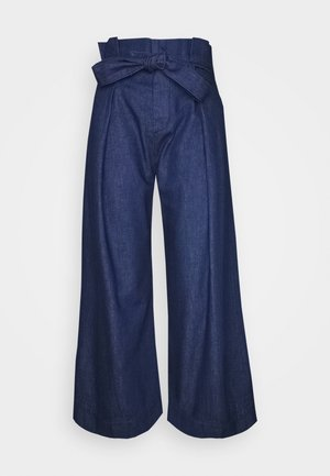 LOTTA CROPPED PAPERBAG - Jeans a zampa - vibrant