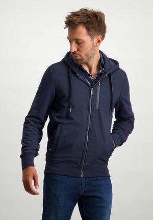 PLAIN - Sweat à capuche zippé - dark blue plain