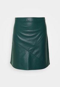 TOM TAILOR DENIM - MINI SKIRT - A-line skirt - deep green lake - 0
