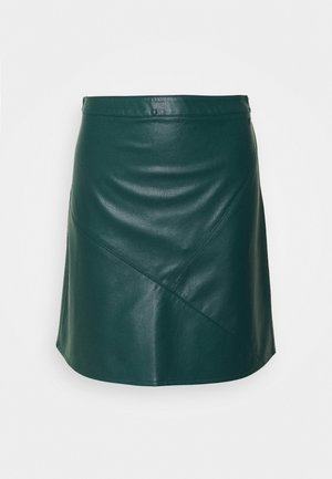 MINI SKIRT - A-linjainen hame - deep green lake