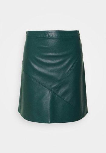 MINI SKIRT - A-line skirt - deep green lake