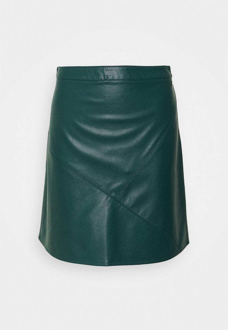 TOM TAILOR DENIM - MINI SKIRT - A-line skirt - deep green lake