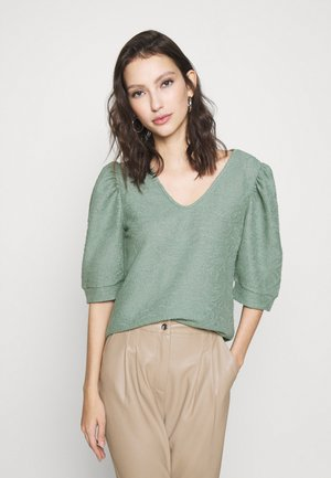 ONLDORA PUFF  - Print T-shirt - chinois green