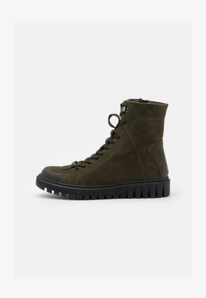 Lace-up ankle boots - green