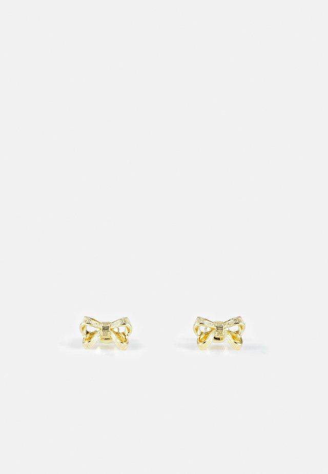 POLLAY PETITE BOW STUD EARRING - Orecchini - gold-coloured