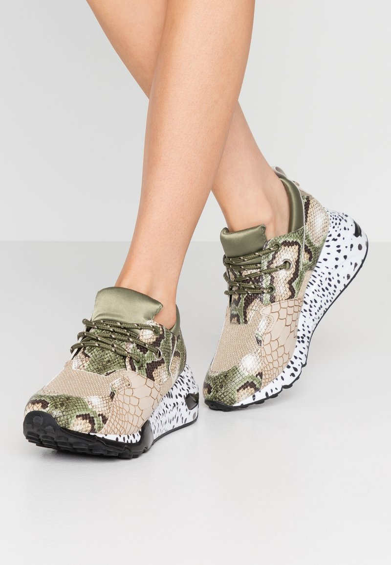 Steve Madden - CLIFF - Sneakers - olive/brown