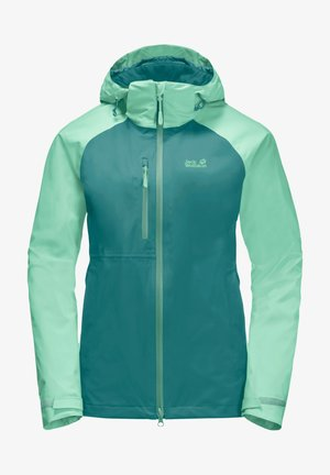 Hardshell jacket - emerald green