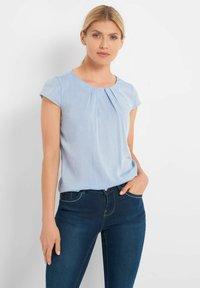 ORSAY - BLUSE MIT ZIERFALTEN - Blouse - jeansblaue - 0