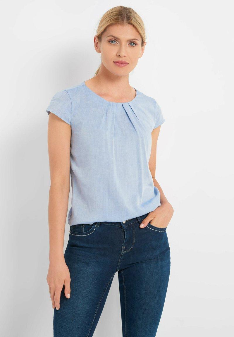 ORSAY - BLUSE MIT ZIERFALTEN - Blouse - jeansblaue