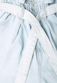 New Look - FREDDIE PAPERBAG - Jeansshorts - blue - 2