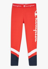 Champion - PERFORMANCE - Legginsy - red/dark blue - 0