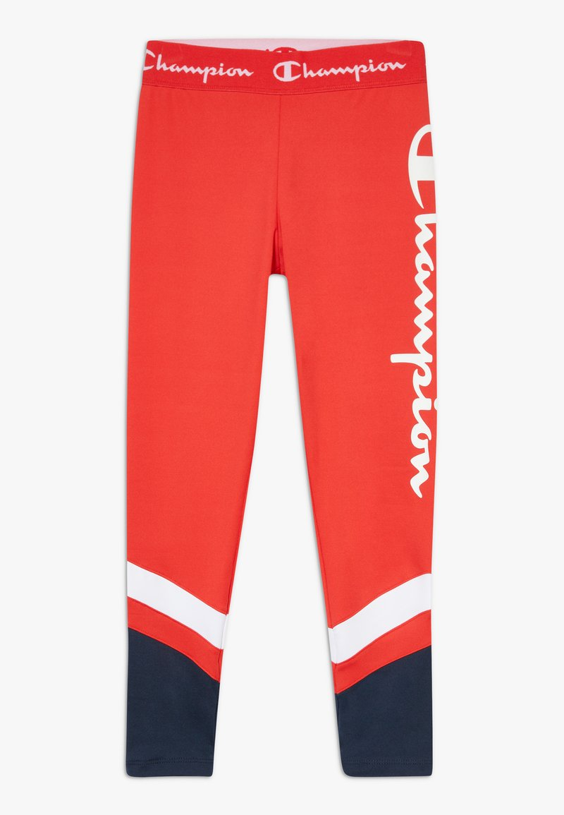 Champion - PERFORMANCE - Legginsy - red/dark blue