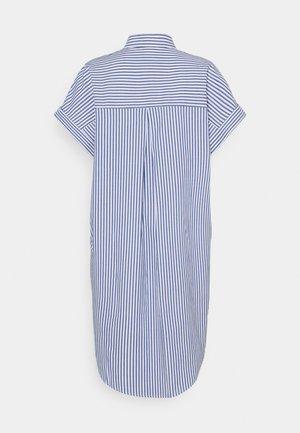 WANNA DRESS - Shirt dress - blue bright summer stripe