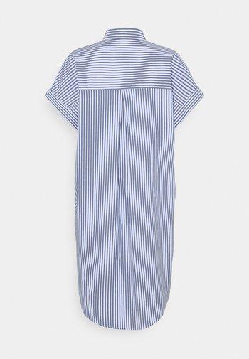 WANNA DRESS - Skjortklänning - blue bright summer stripe
