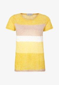 comma casual identity - MIT STREIFENMUSTER - Print T-shirt - yellow - 3
