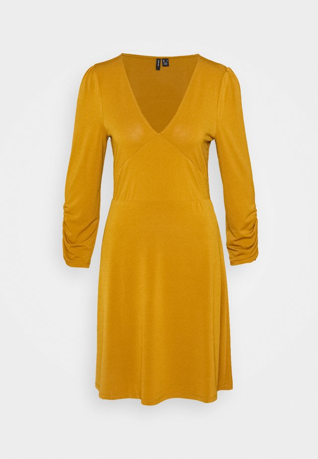 VMALBERTA V NECK DRESS  - Jersey dress - golden brown