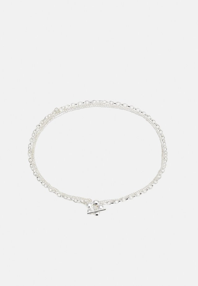 FLOWER NECKLACE - Necklace - silver-coloured