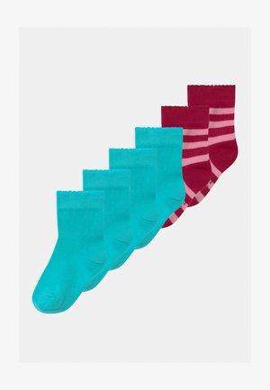 PLAIN RINGLET 6 PACK - Socks - pink/turquoise