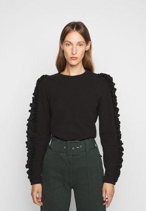 RUFFLE TRIM  - Sweter - black