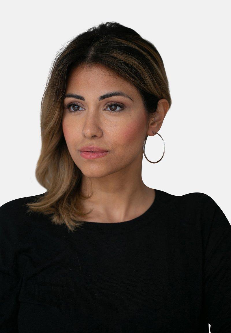Heideman - CREOLE MIT CLIP - Earrings - silver-coloured