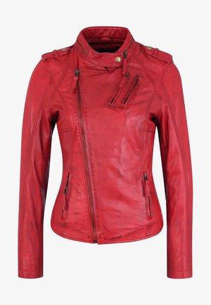 LEDERJACKE DONUT - Leather jacket - red