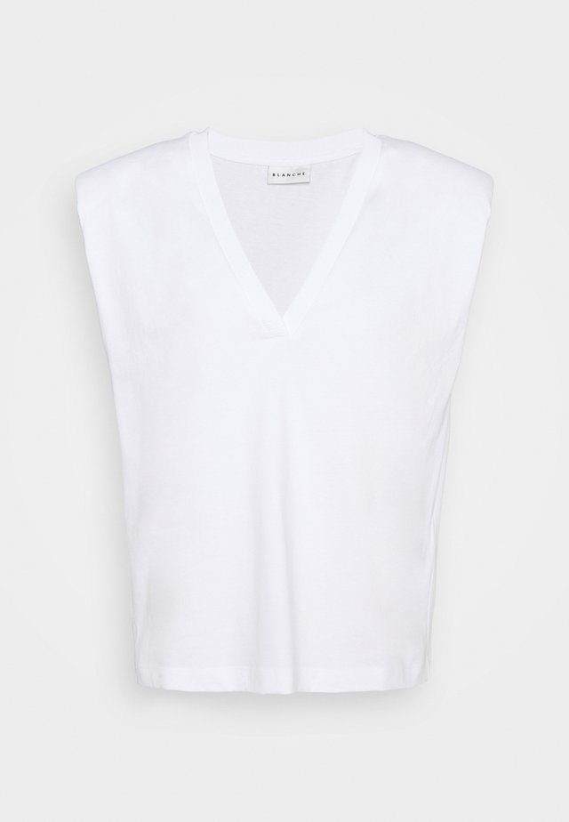 MAINTAIN - T-shirt con stampa - white