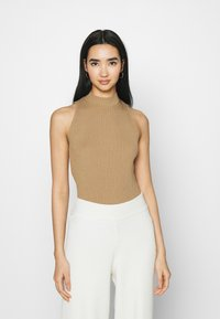 NA-KD - NA-KD X ZALANDO EXCLUSIVE - RIBBED - Top - beige - 0