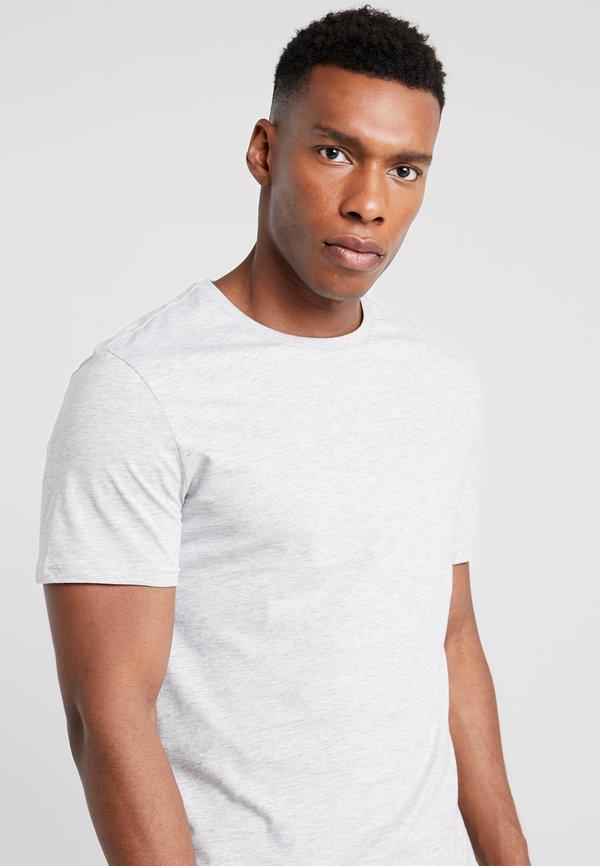 Pier One 5 PACK - T-shirt basic - dark blue/grey/khaki/granatowy Odzież Męska VETU
