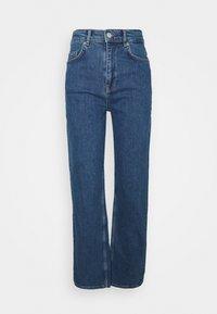 Selected Femme - SLFBLAIR LONG - Relaxed fit jeans - dark blue denim - 4
