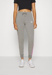 SIKSILK - FADE RUNNER TRACK PANTS - Tracksuit bottoms - grey marl - 0