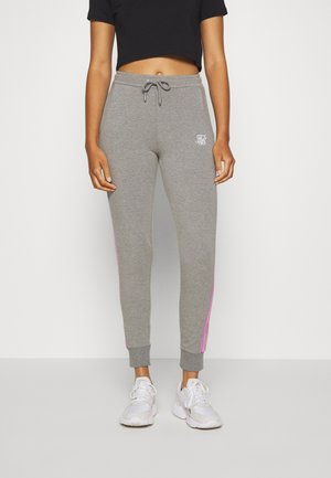 FADE RUNNER TRACK PANTS - Tracksuit bottoms - grey marl
