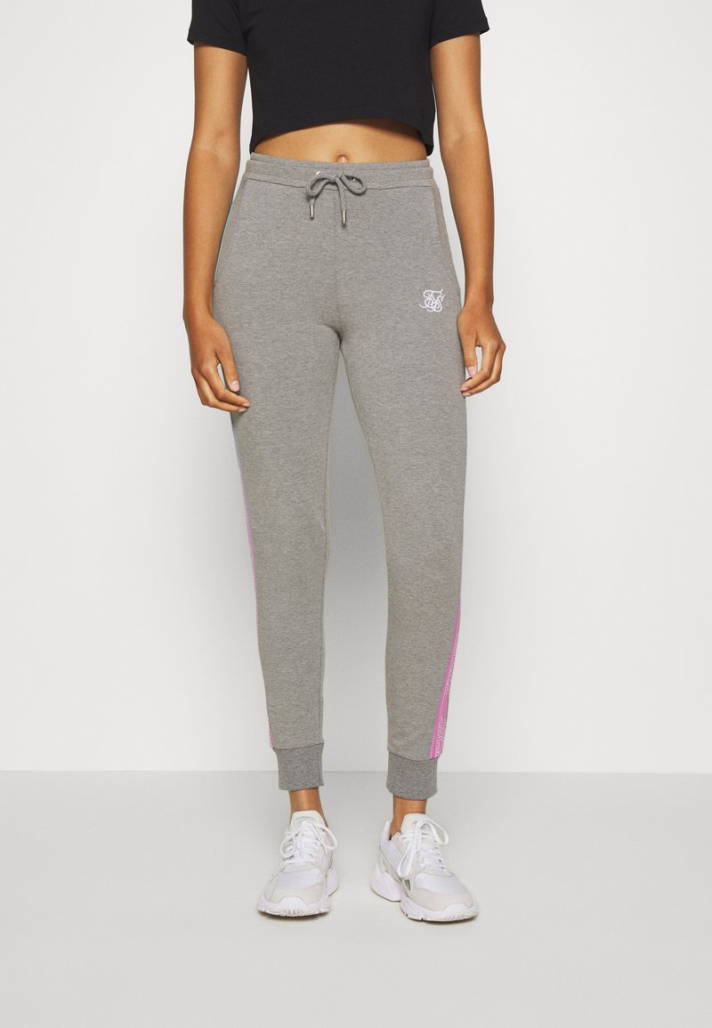 SIKSILK - FADE RUNNER TRACK PANTS - Tracksuit bottoms - grey marl