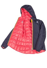 K-Way - THERMO PLUS. 2 DOUBLE - Down jacket - blue maritime-red claret - 5